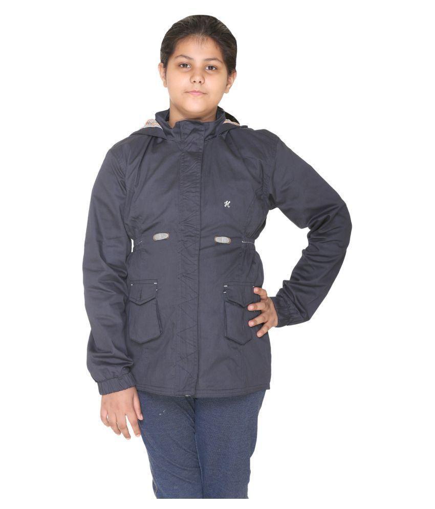 Bana Clothing Girls Navy Jacket with Hood