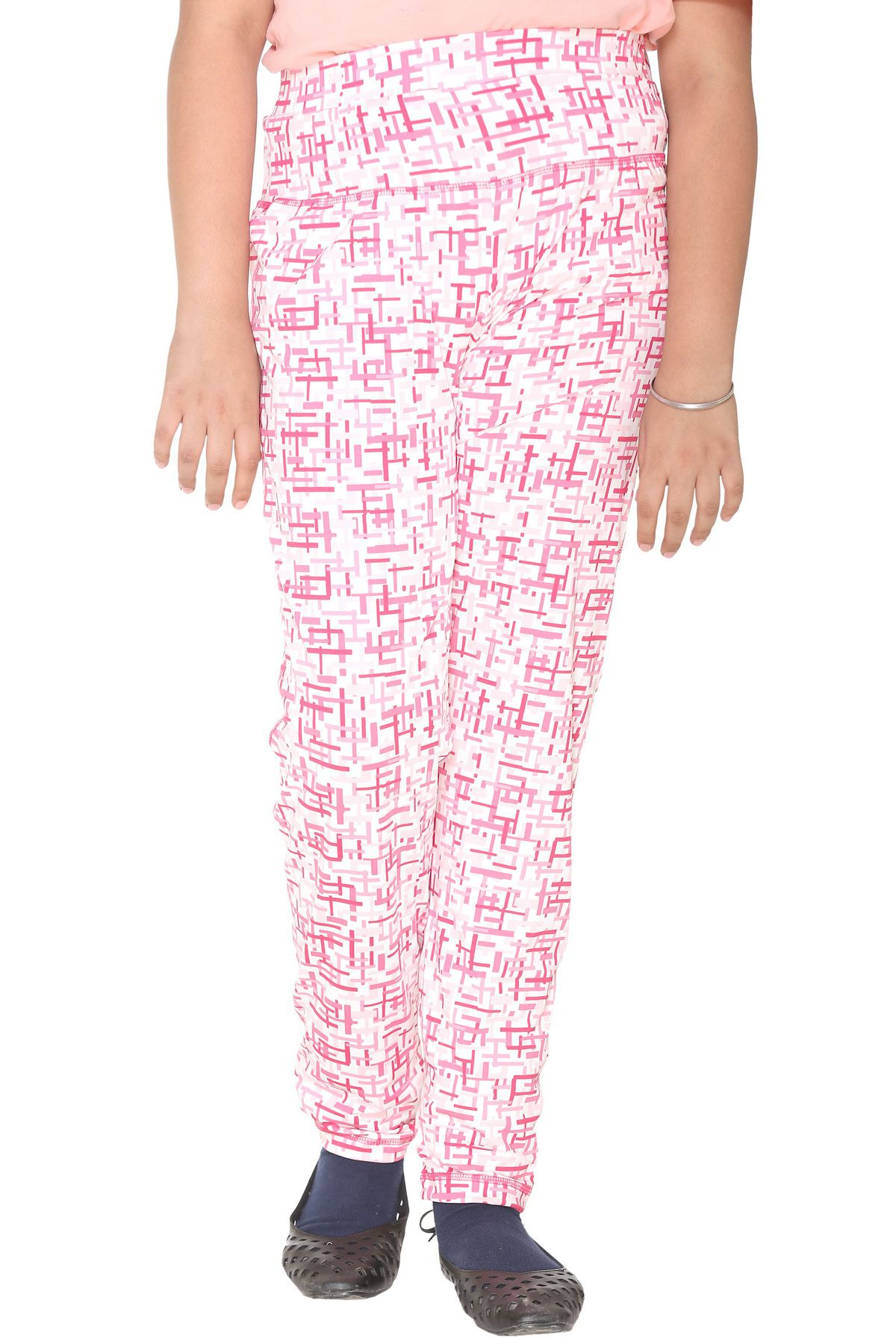 Bana Clothing Girls Pink Crepe Pyjamas