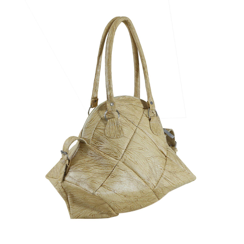 Desence Tan Faux Leather Shoulder Bag