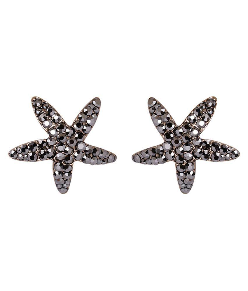 Bijou Vertex Sparkling Starfish Stud Earrings