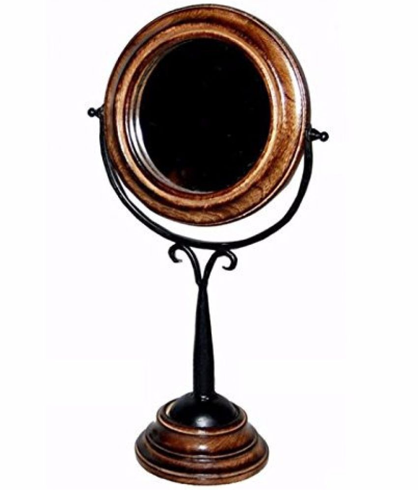 Onlineshoppee Mirror Handheld Mirror Brown - Pack of 1