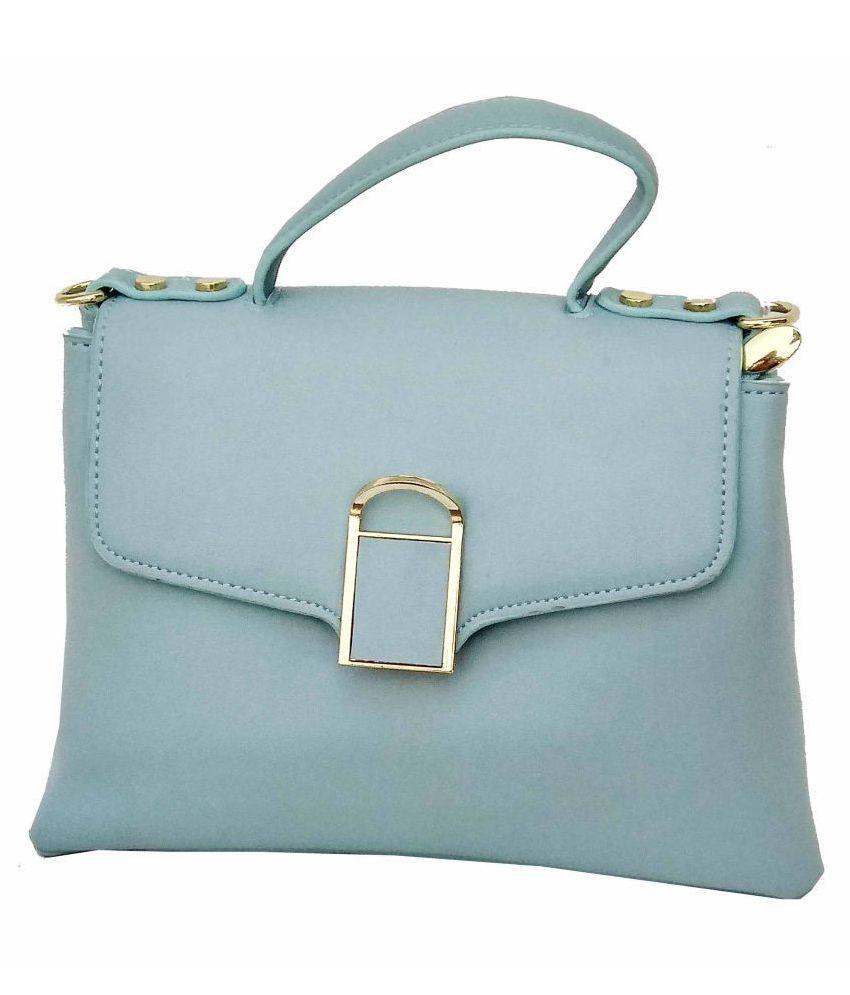 ALIVE Blue Artificial Leather Sling Bag