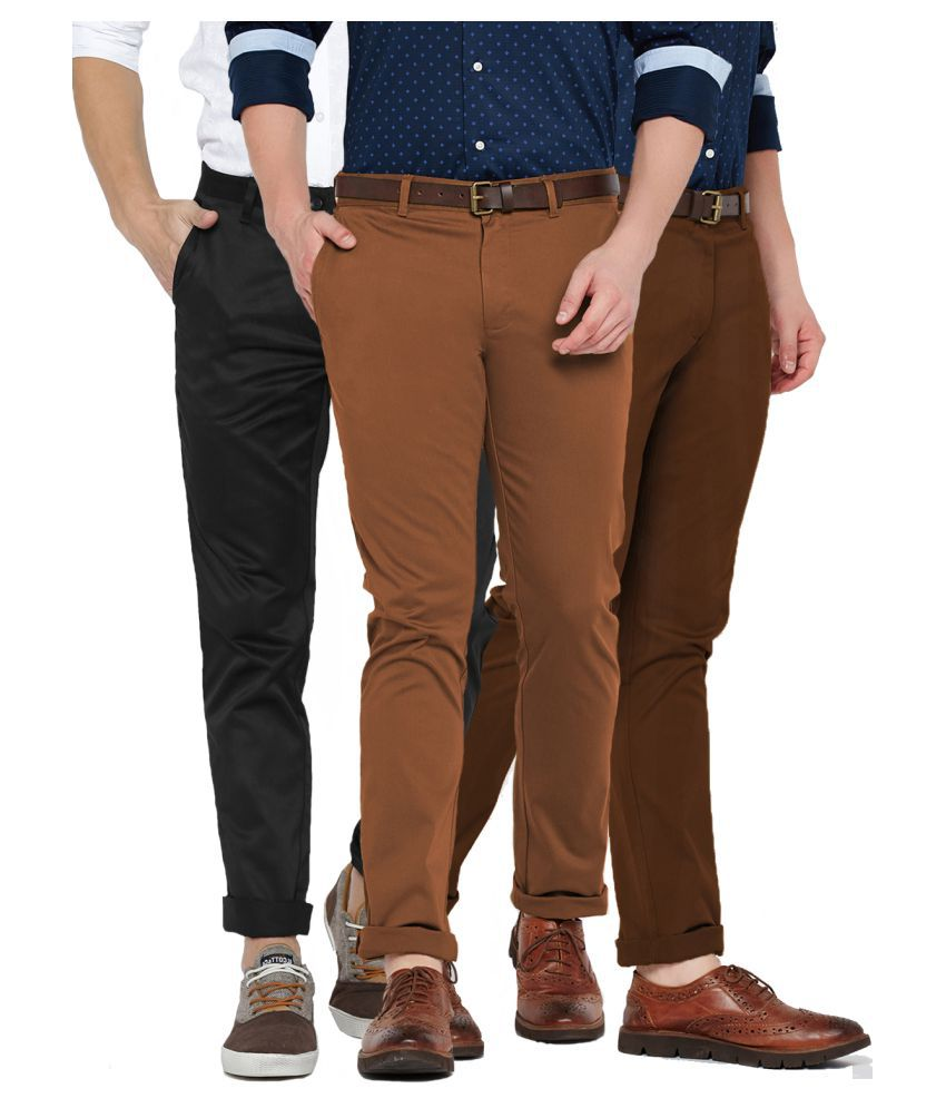 Van Galis Multicolored Regular -Fit Flat Chinos