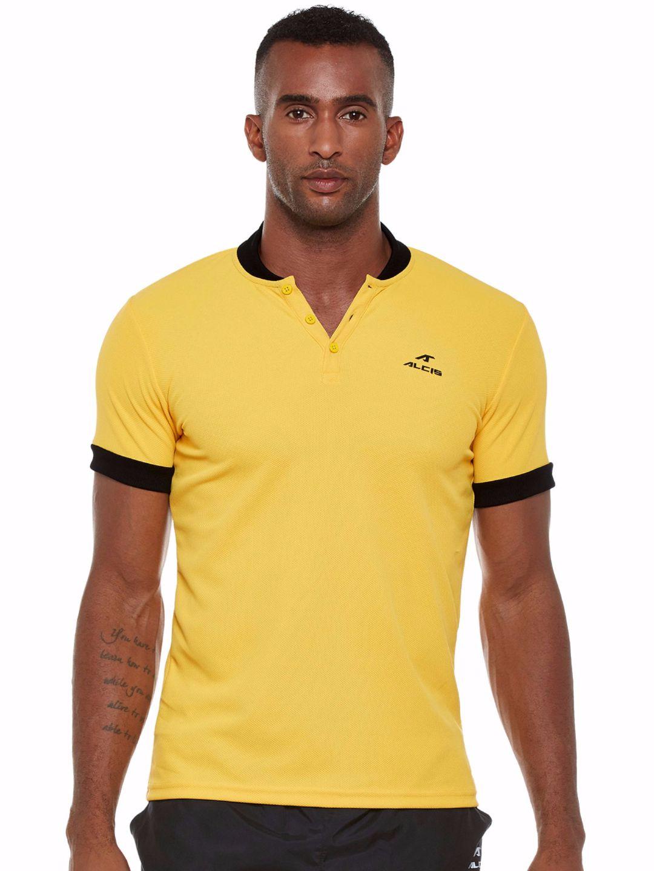 Alcis Men Yellow Slounge Polo