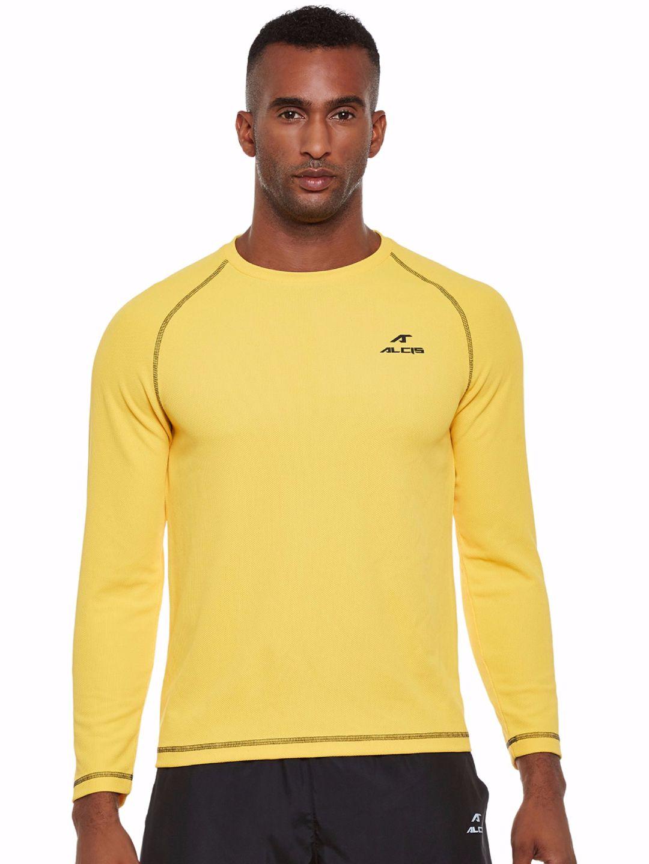Alcis Men Yellow Sweat