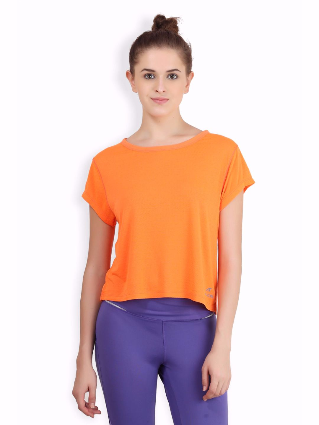 Alcis Women Orange Crop Top