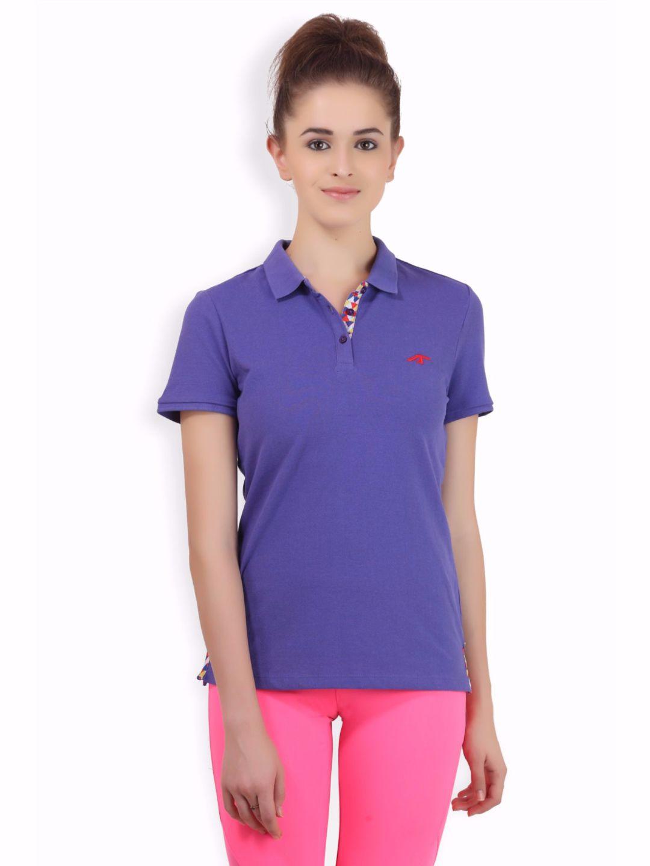 Alcis Women Purple Core Polo