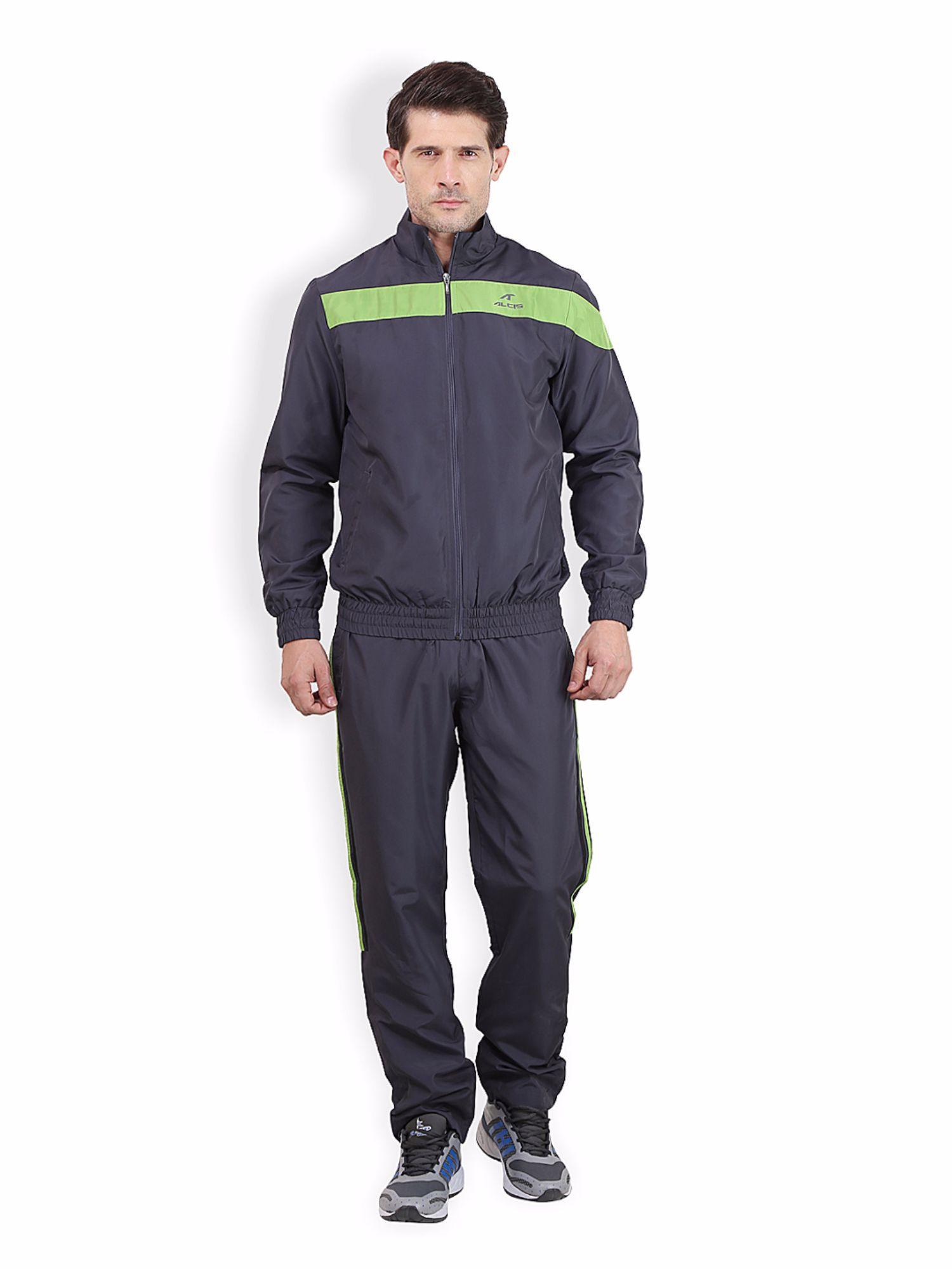 Alcis Men Grey Fitnesss Tracksuit