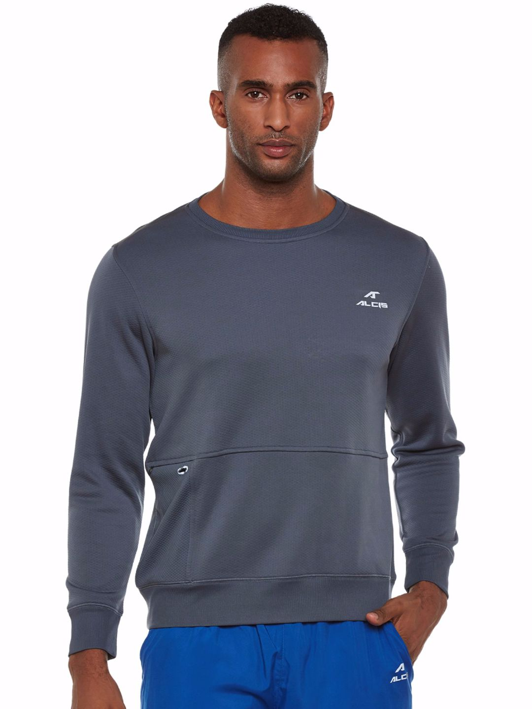 Alcis Men Grey Train Sweat