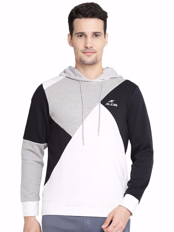 Alcis Men Navy Panel Sweatshirt