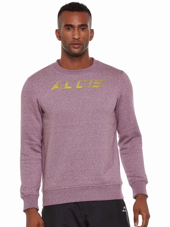 Alcis Men Purple Slounge Sweat