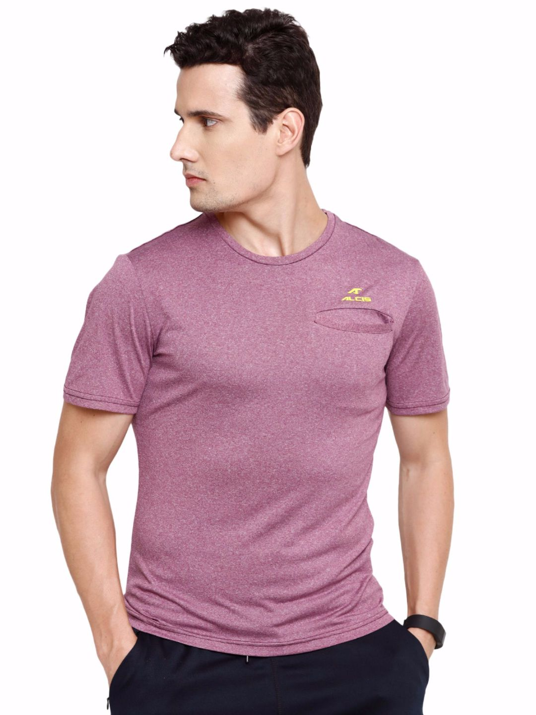 Alcis Men Purple Slounge Tee