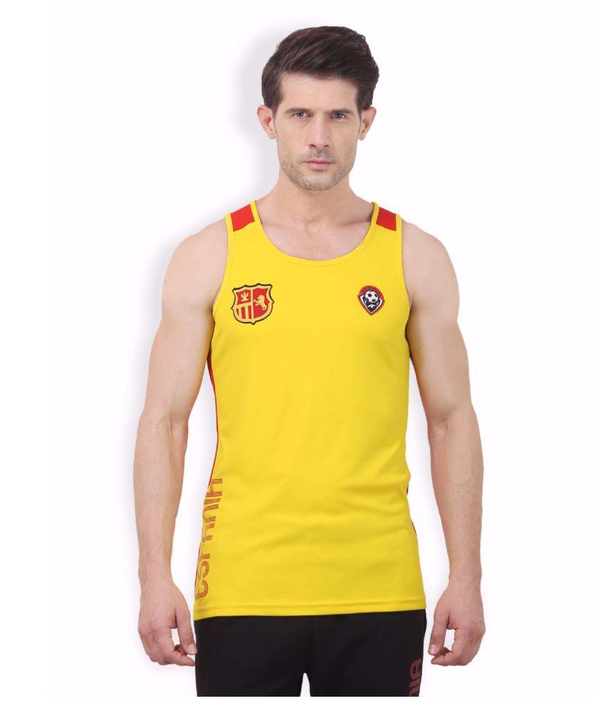 Alcis Men Yellow Game Tank