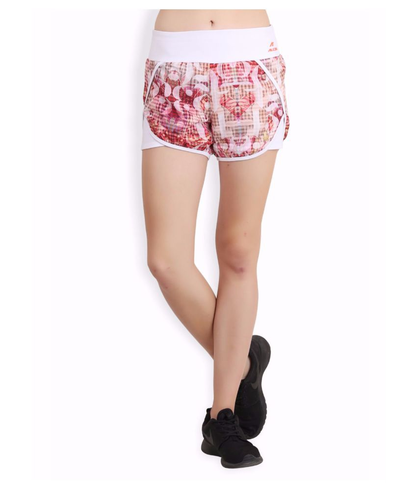 Alcis Women Green Number Shorts