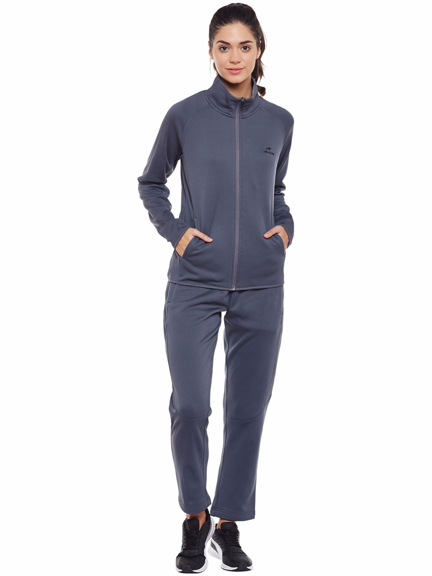 Alcis Women Grey Train Tracksuit