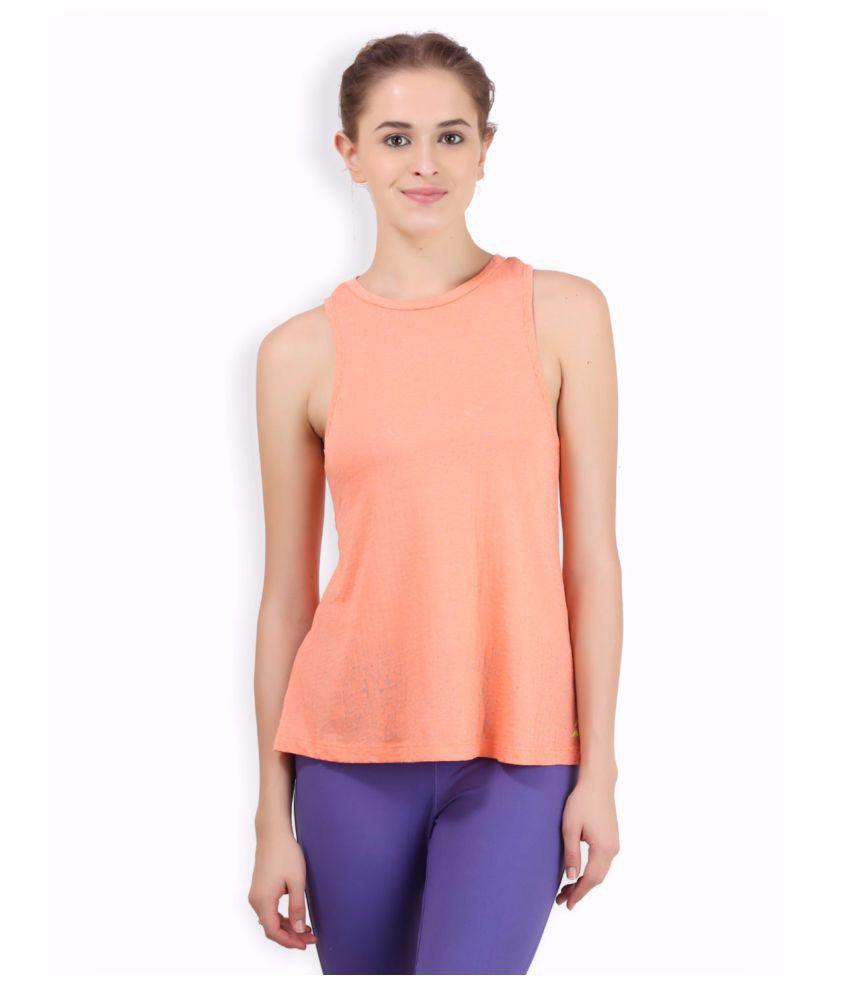 Alcis Women Orange Burnout Top