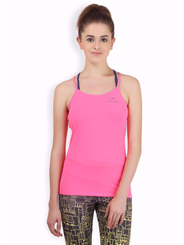 Alcis Women Pink Back Top
