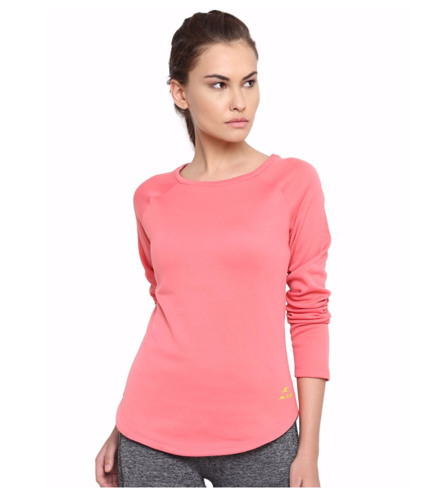 Alcis Women Pink Long Sleeve Tee