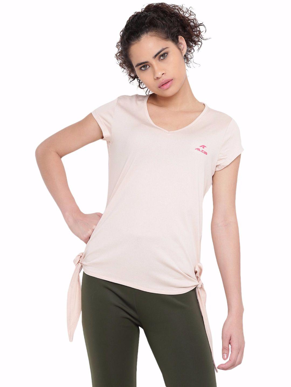 Alcis Women Pink Plain Tee