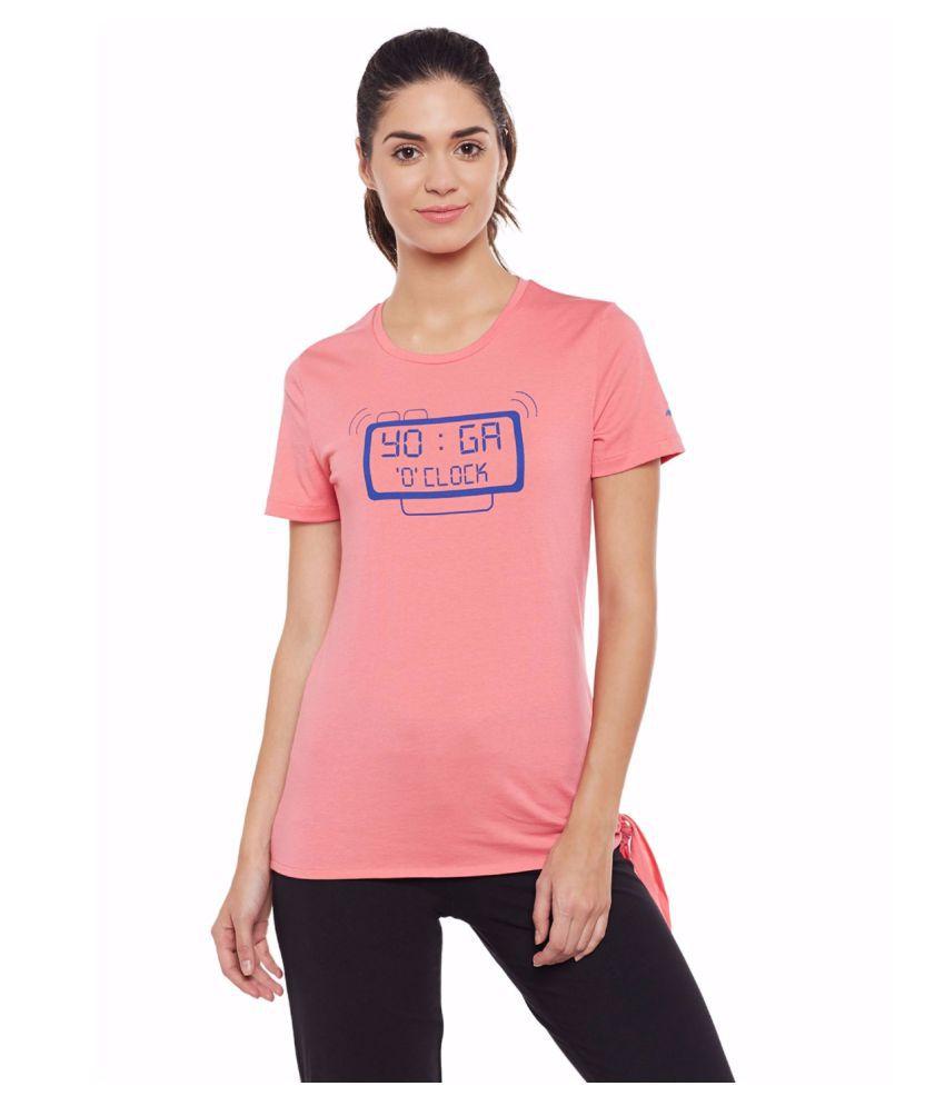 Alcis Women Pink Yoga Tee