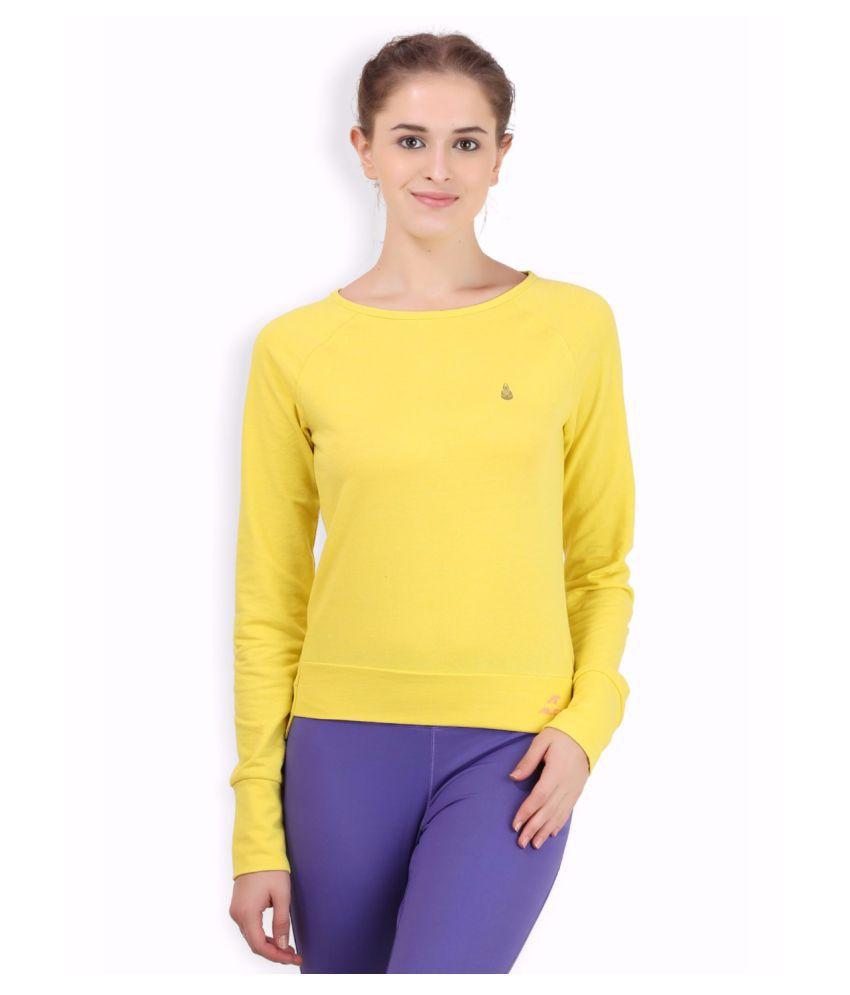 Alcis Women Yellow Hem Top