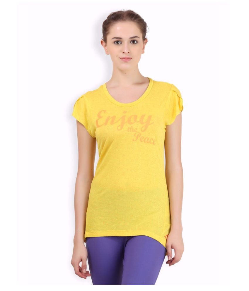 Alcis Women Yellow Peace Tee
