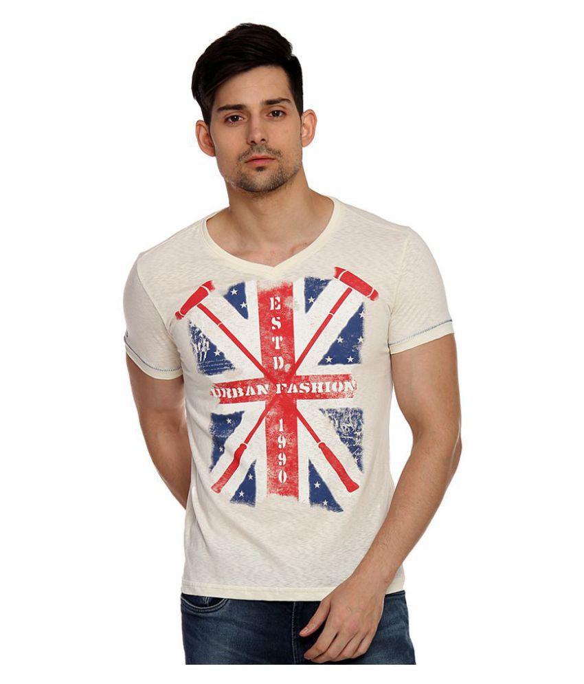 Duke White V-Neck T-Shirt Pack of 1