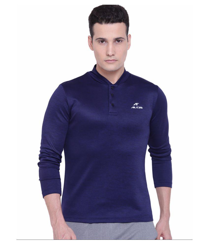 Alcis Mens Navy Polo Tshirt