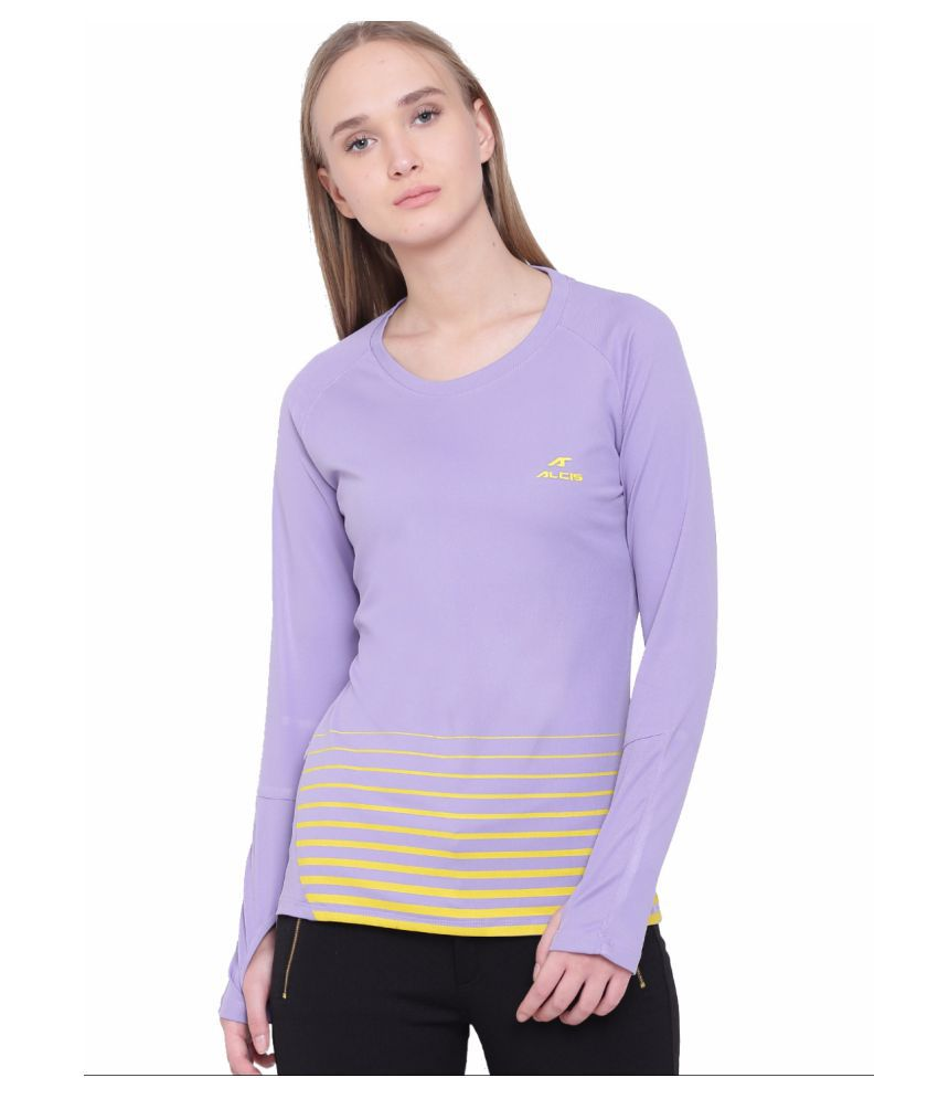 Alcis Womens Purple Tee