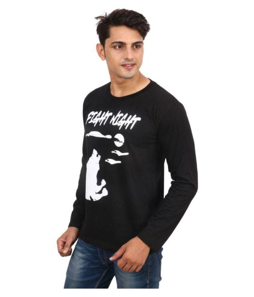 DRAY Black Round T-Shirt Pack of 1