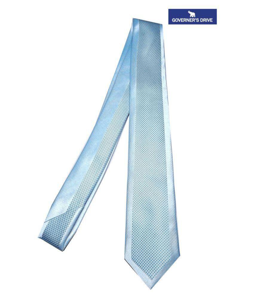 Governer's Drive Beige Printed Micro Fiber Necktie