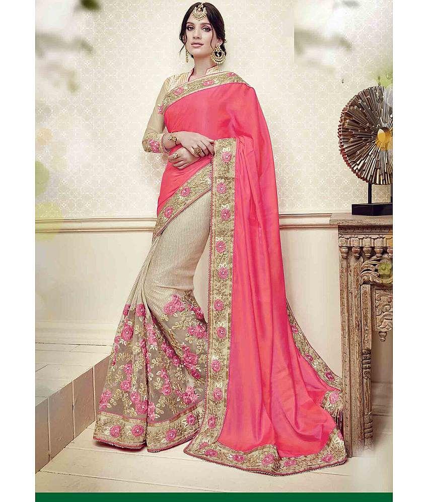 SareeShop Designer SareeS Pink Art Silk Saree