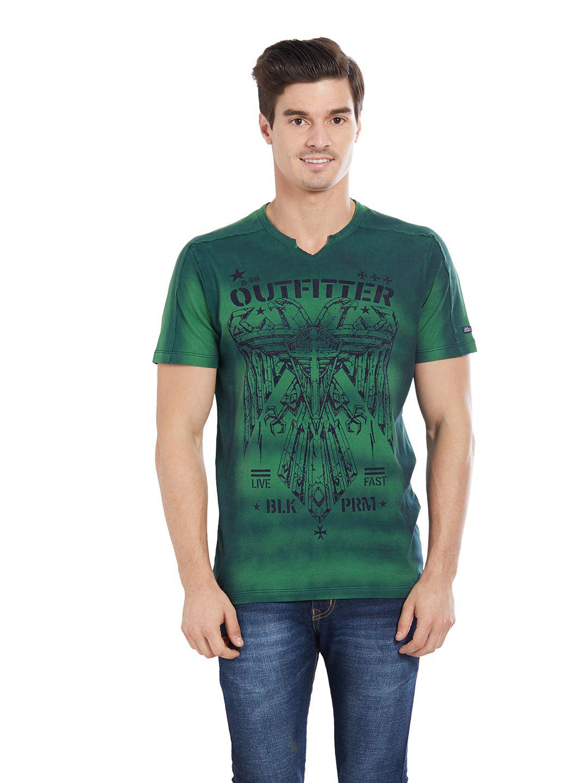BONATY Green V-Neck T-Shirt Pack of 1