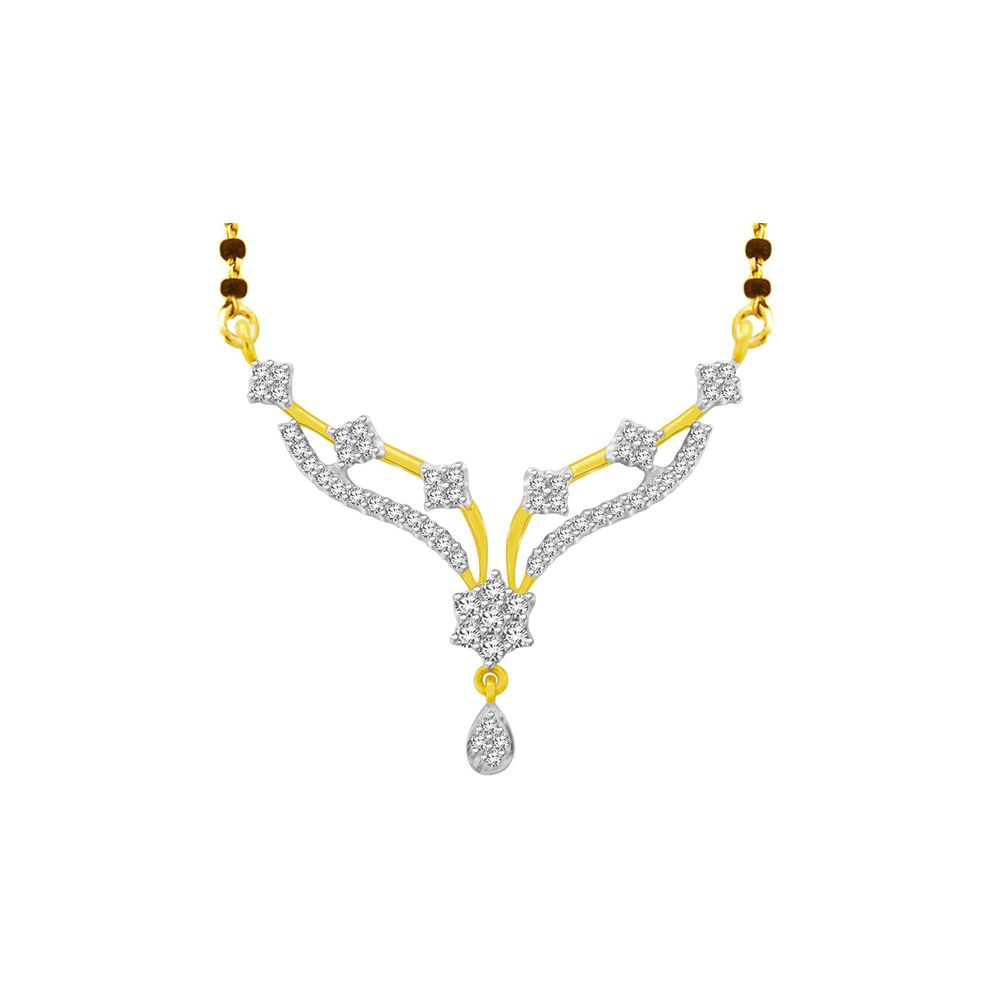 His & Her 9k Yellow Gold Diamond Mangalsutra