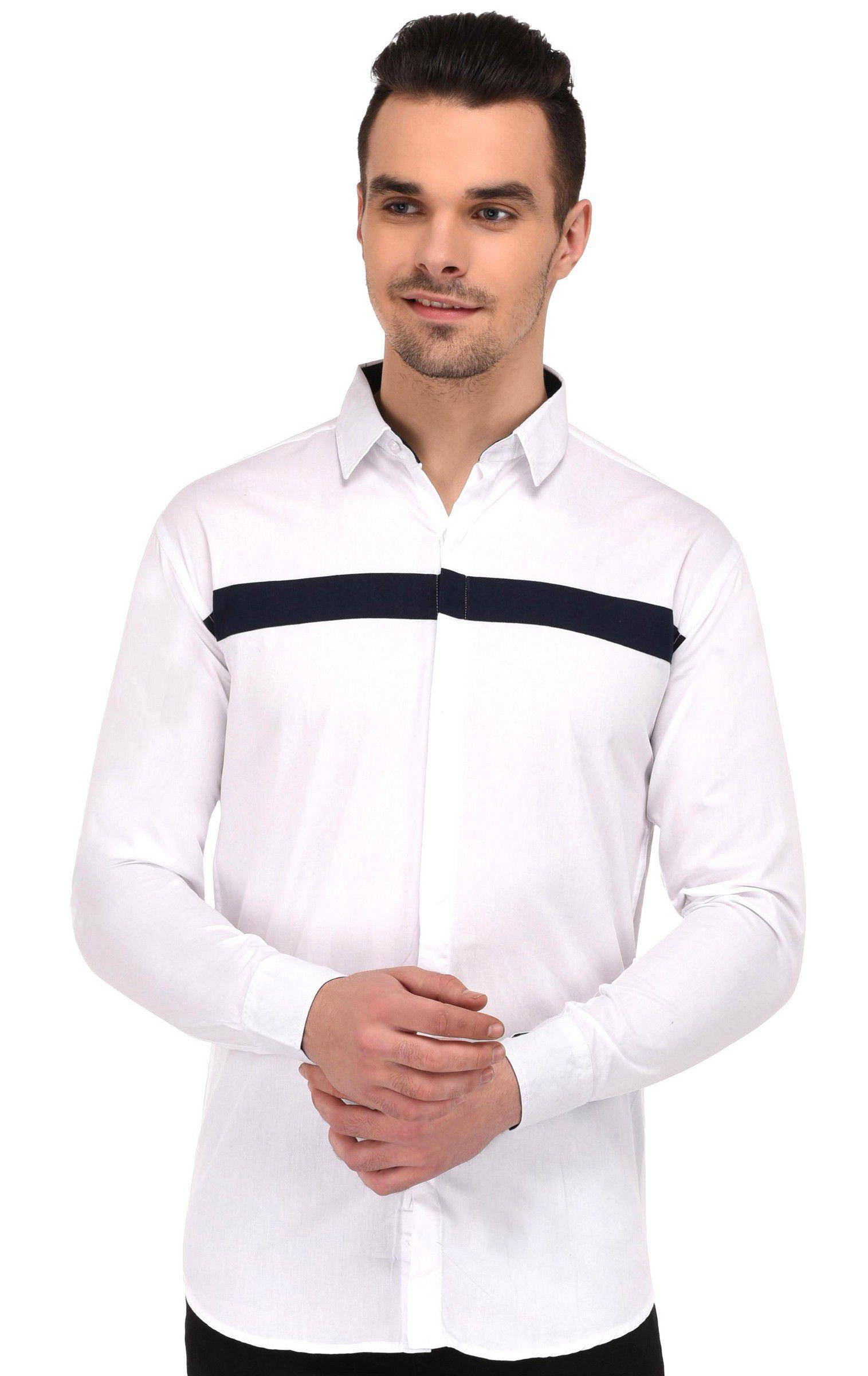 Lafantar White Slim Fit Shirt