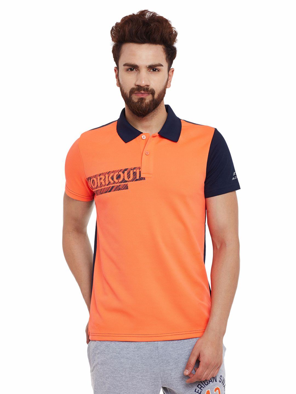 Alcis Mens Orange Polo Tshirt