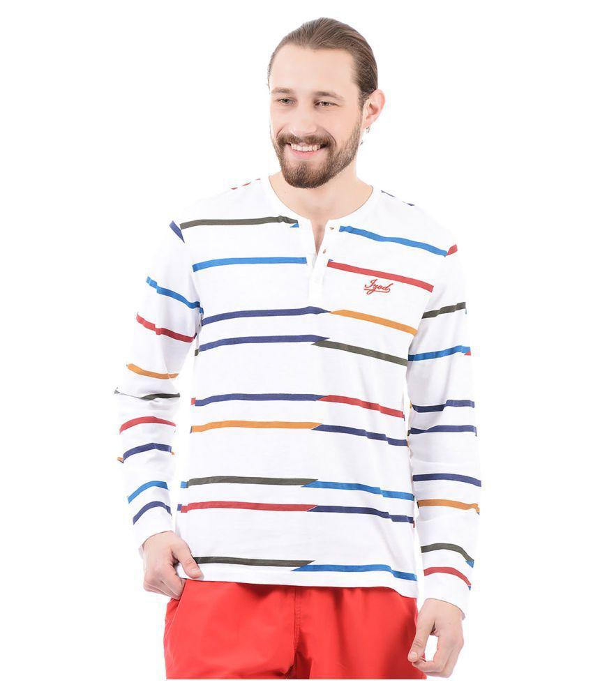 IZOD White Henley T-Shirt Pack of 1