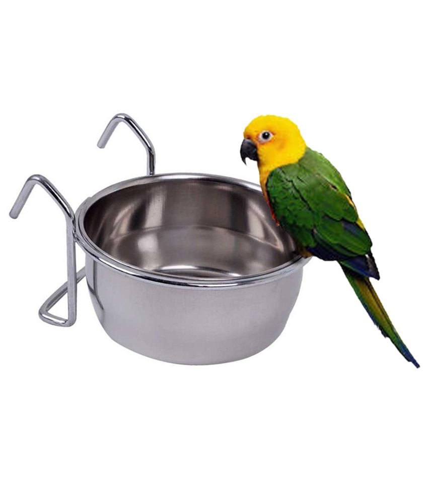 Pets Empire Birds Coop Cup With Hook Holder Water Bowl