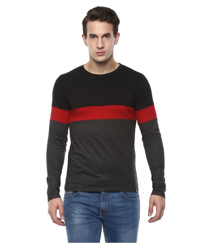 Urbano Fashion Black Round T-Shirt Pack of 1