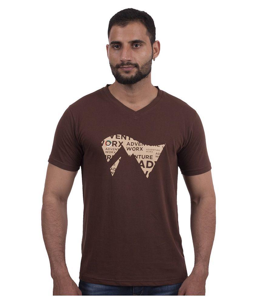 AdventureWorx Brown V-Neck T-Shirt