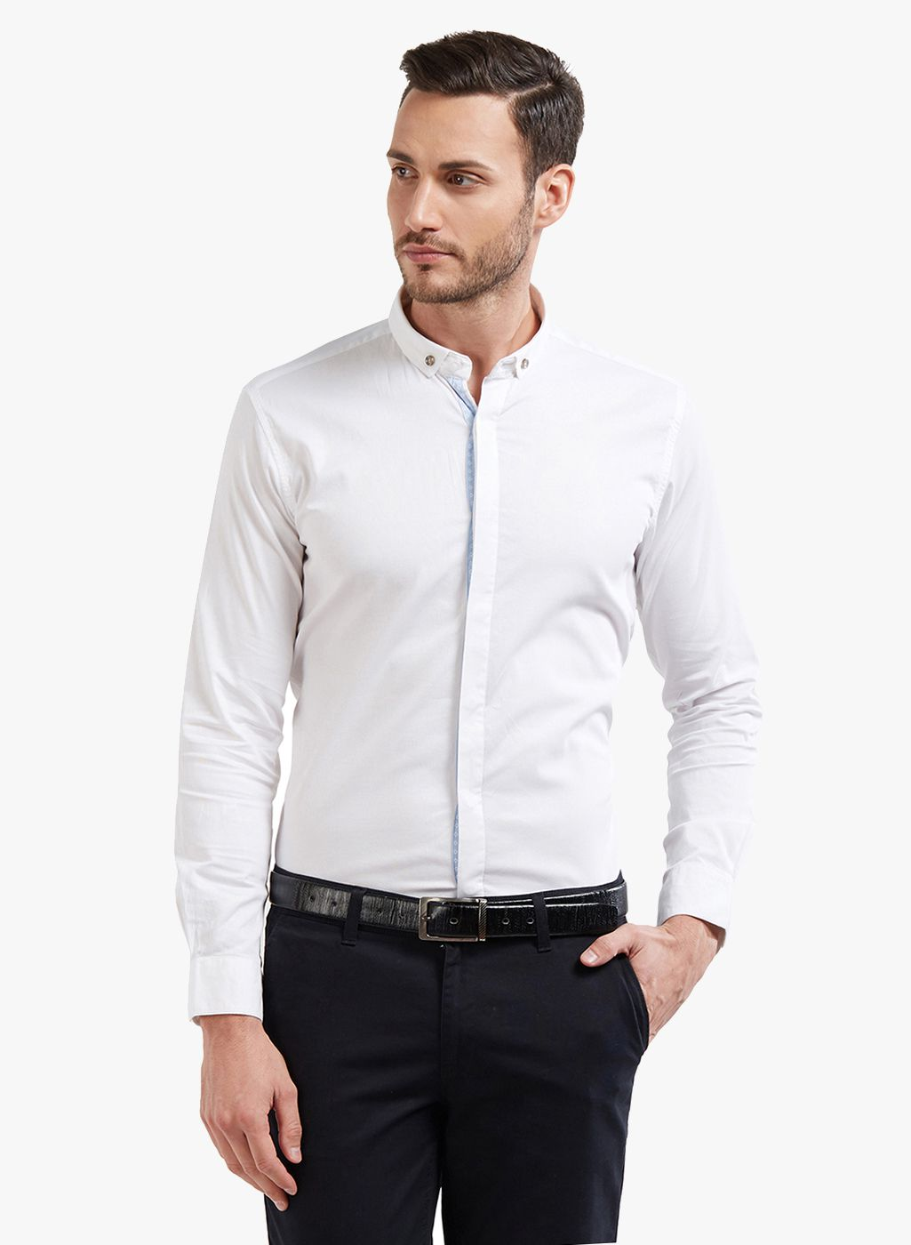 4eb153c4198 LAWMAN pg3 White Slim Fit Shirt - Buy LAWMAN pg3 White Slim Fit Shirt Online  at Best Prices in India on Snapdeal
