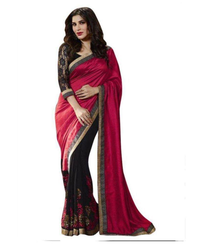 Party-Wear Bollywood Sadi Multicoloured Georgette Saree