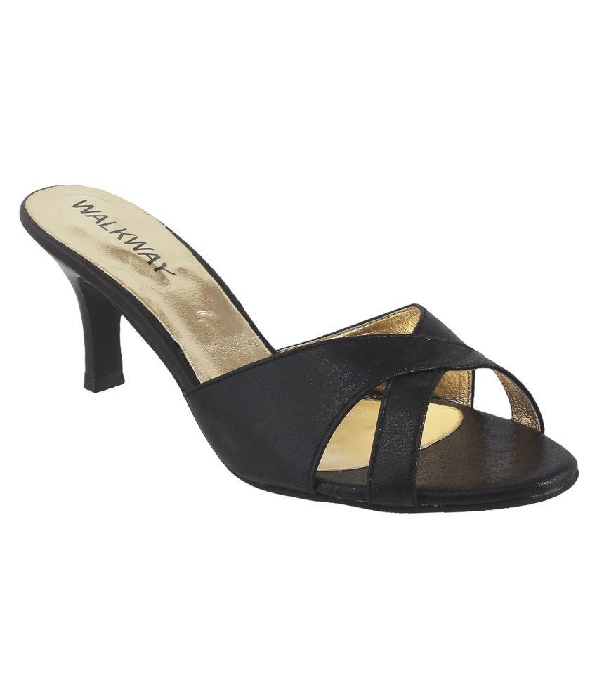 Walkway BLACK Stiletto Heels
