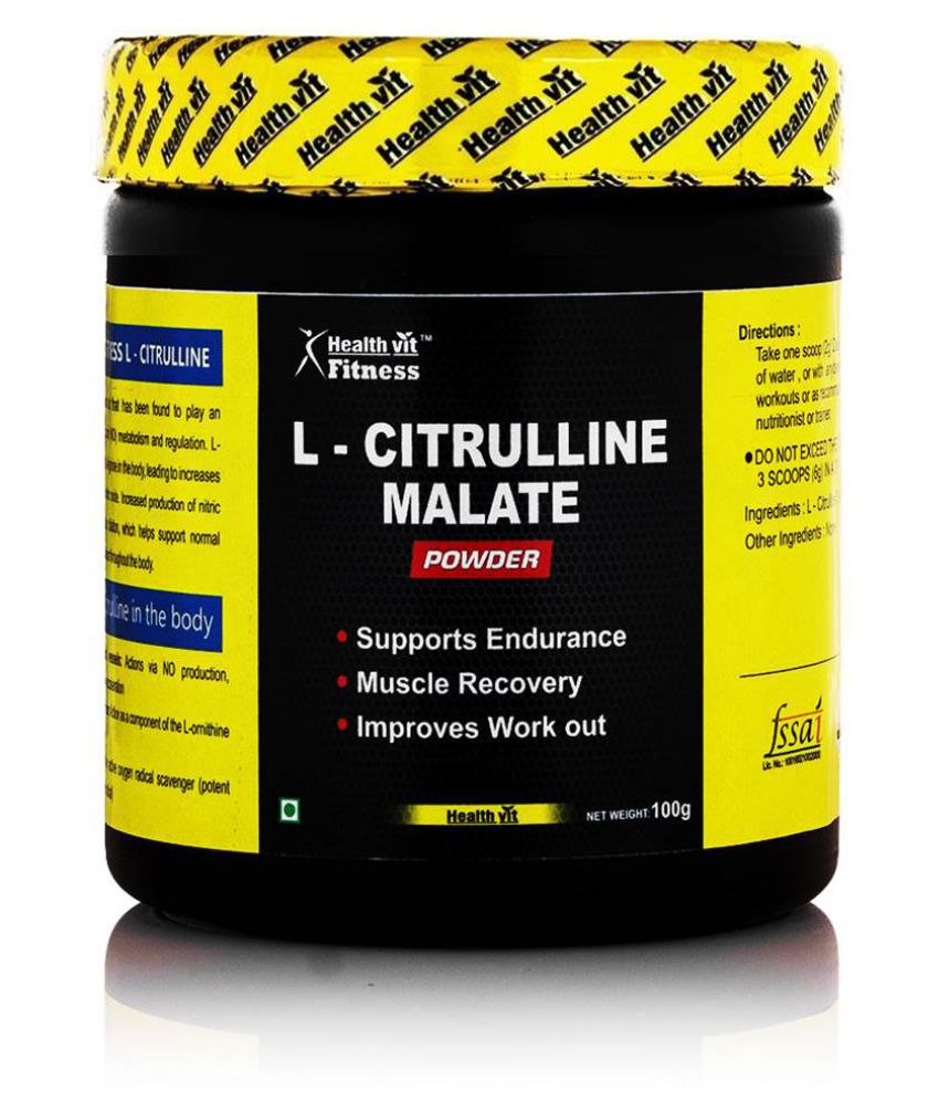 Healthvit Fitness Pure L-Citrulline Malate Powder - 100 g