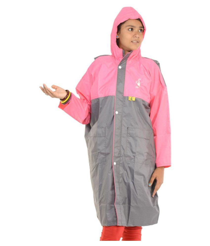 Allwin Polyester Short Rainwear - Grey