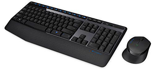 Logitech MK345 Wireless Keyboard and Mouse Combo (Black)