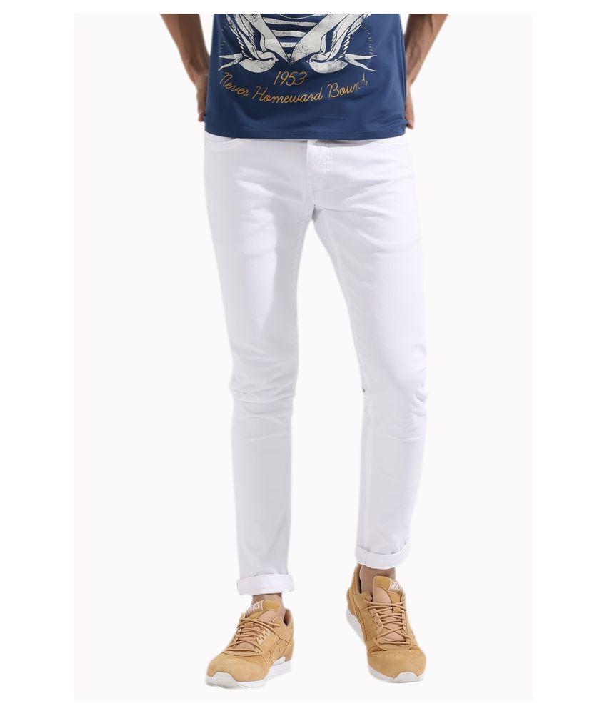 Calcium White Slim Jeans