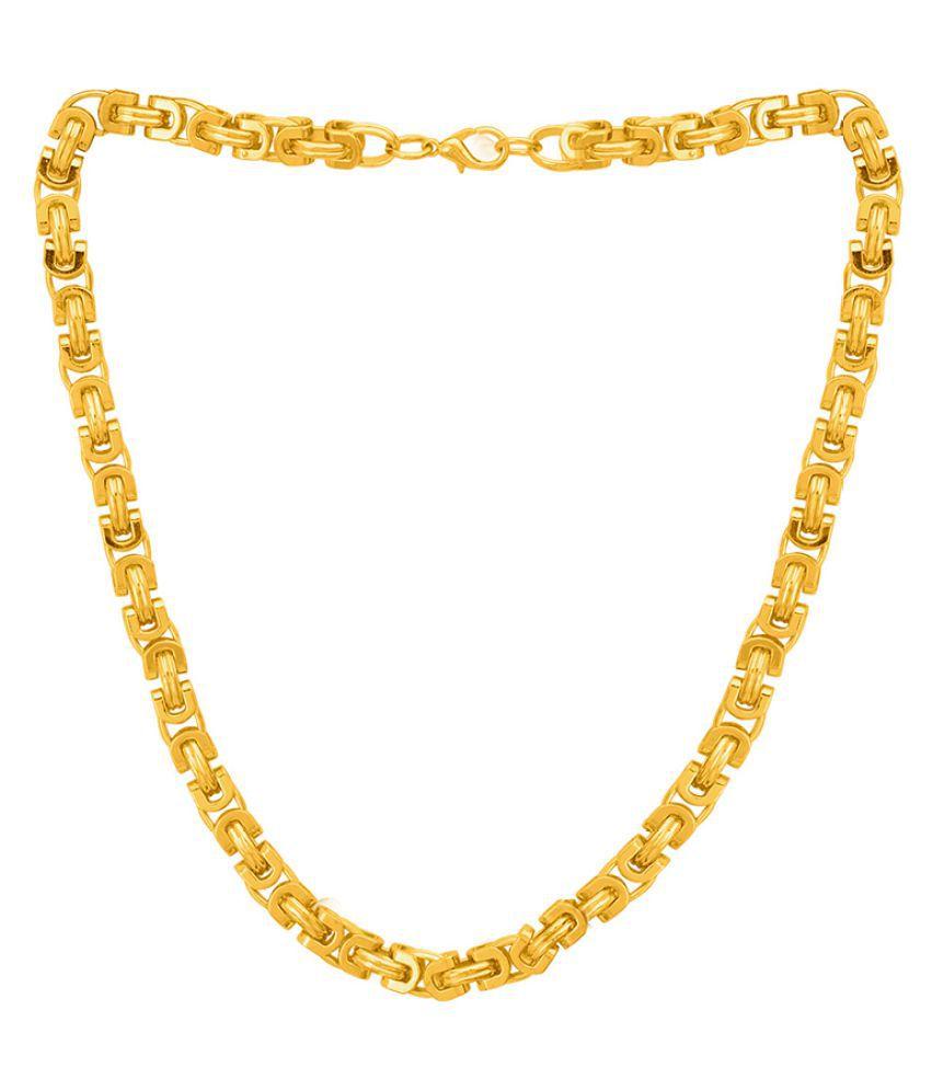Dare by Voylla Trendy Brass Men's Chain
