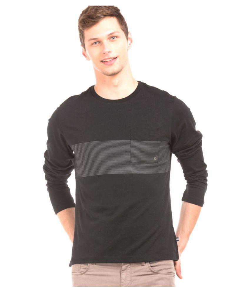 Nautica Black Round T-Shirt