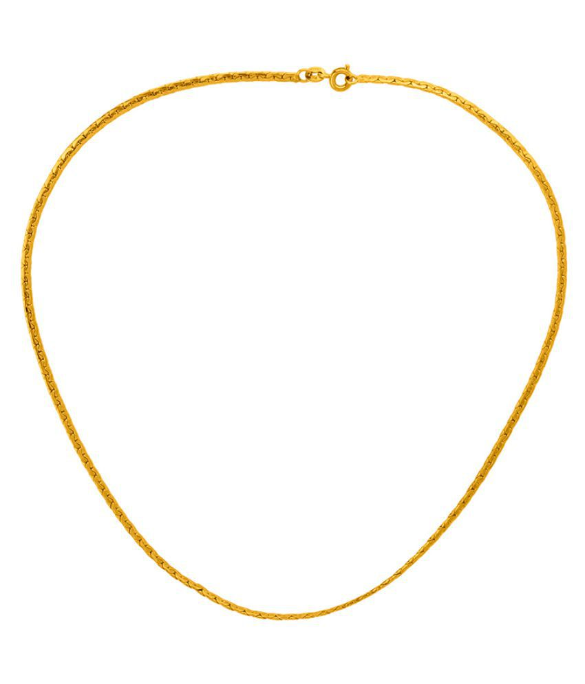Dare by Voylla Classy Men's Link Chain with Gold Plating